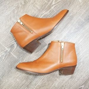 J. Crew Shoes - J.Crew brown leather side zip ankle booties 6.5